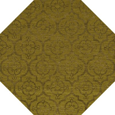 Bella Machine Woven Wool Gold Area Rug Rug Size: Octagon 12