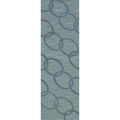 Bella Blue Blue Area Rug Rug Size: Runner 26 x 10