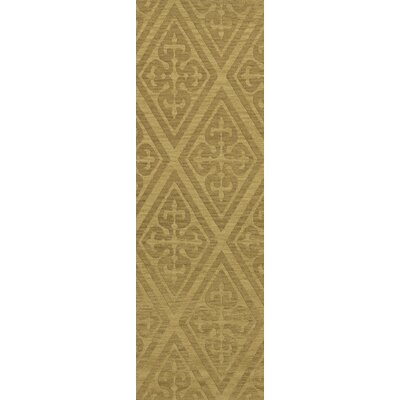 Bella Machine Woven Wool Beige Area Rug Rug Size: Runner 26 x 12