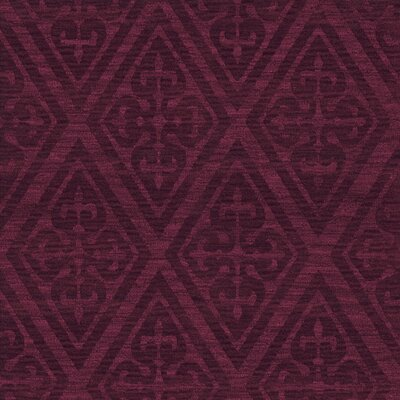 Bella Machine Woven Wool Red Area Rug Rug Size: Square 8