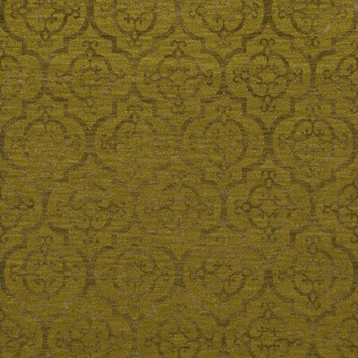 Bella Machine Woven Wool Gold Area Rug Rug Size: Square 12