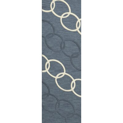 Bella Machine Woven Wool Blue Area Rug Rug Size: Runner 26 x 12