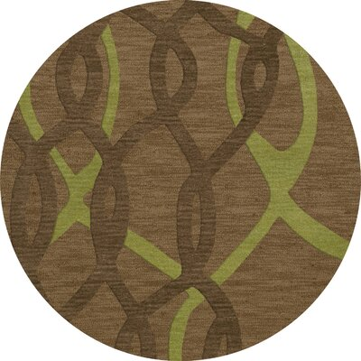 Bella Brown Area Rug Rug Size: Round 4'