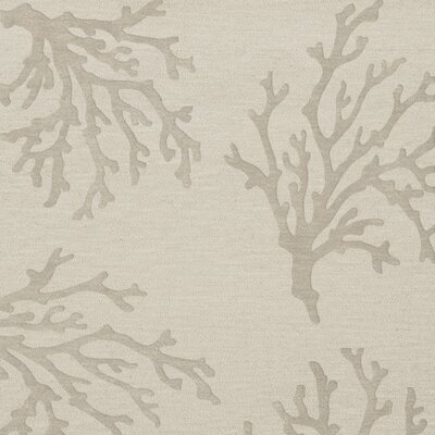 Bella Machine Woven Wool Gray Area Rug Rug Size: Square 12