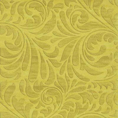 Bella Machine Woven Wool Yellow Area Rug Rug Size: Square 12