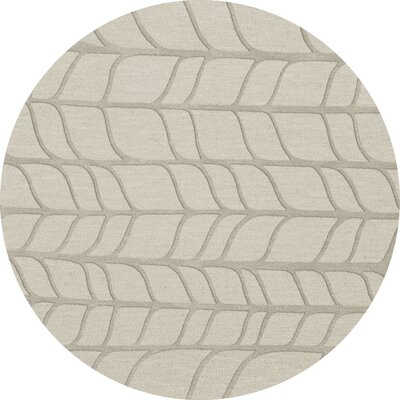 Bella Machine Woven Wool Gray Area Rug Rug Size: Round 10
