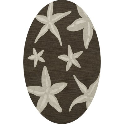 Bella Brown/Beige Area Rug Rug Size: Oval 8 x 10