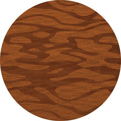 Bella Rust/Orange Area Rug Rug Size: Round 6