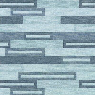 Bella Machine Woven Wool Blue Area Rug Rug Size: Square 4