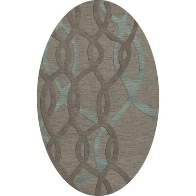 Bella Gray Area Rug Rug Size: Oval 4 x 6