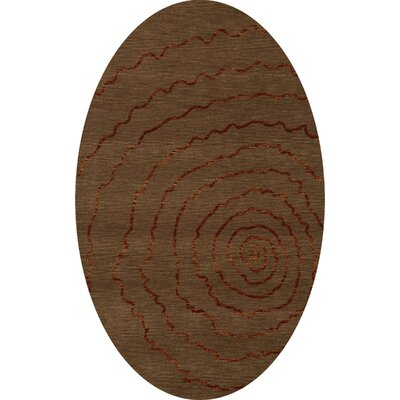 Bella Brown Area Rug Rug Size: Oval 6' x 9'