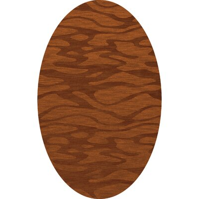 Bella Rust/Orange Area Rug Rug Size: Oval 5 x 8