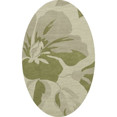 Bella Green Area Rug Rug Size: Oval 12 x 15