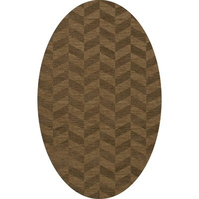 Bella Machine Woven Wool Brown Area Rug Rug Size: Oval 12 x 18