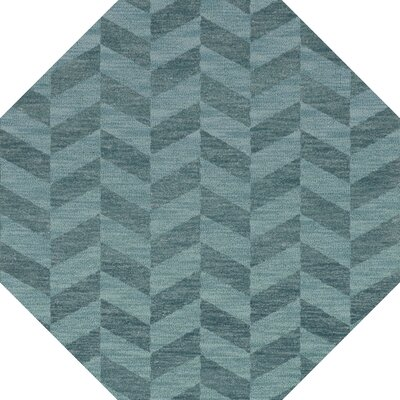 Bella Machine Woven Wool Blue Area Rug Rug Size: Octagon 6