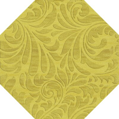 Bella Yellow Area Rug Rug Size: Octagon 6