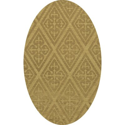 Bella Machine Woven Wool Beige Area Rug Rug Size: Oval 4 x 6