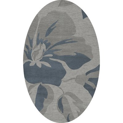 Bella Gray Area Rug Rug Size: Oval 3' x 5'