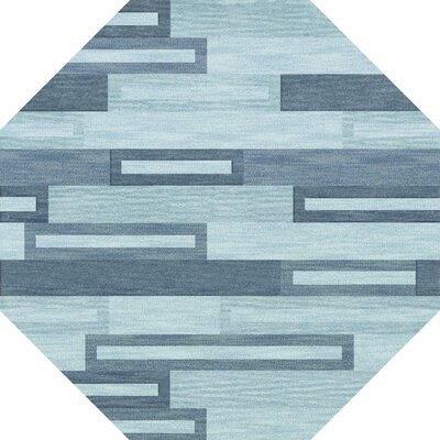 Bella Machine Woven Wool Blue Area Rug Rug Size: Octagon 8