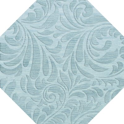 Bella Blue Area Rug Rug Size: Octagon 8