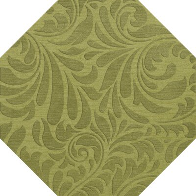 Bella Machine Woven Wool Green Pad Area Rug Rug Size: Octagon 10