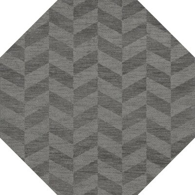 Bella Machine Woven Wool Gray Area Rug Rug Size: Octagon 10