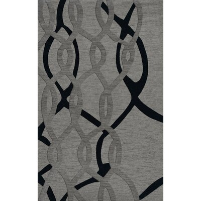 Bella Machine Woven Wool Gray Area Rug Rug Size: Rectangle 5' x 8'