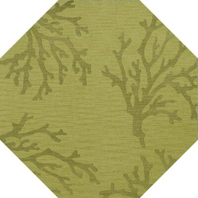Bella Green Area Rug Rug Size: Octagon 10