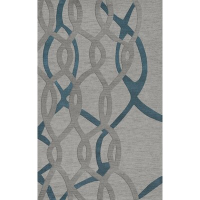 Bella Machine Woven Wool Gray Area Rug Rug Size: Rectangle 5 x 8