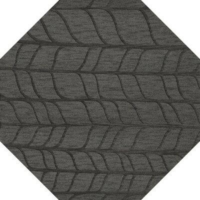 Bella Machine Woven Wool Gray Area Rug Rug Size: Octagon 8