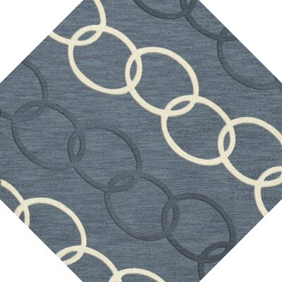 Bella Machine Woven Wool Blue Area Rug Rug Size: Octagon 4