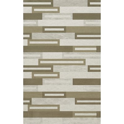 Bella Machine Woven Wool Gray/ Brown Area Rug Rug Size: Rectangle 6' x 9'