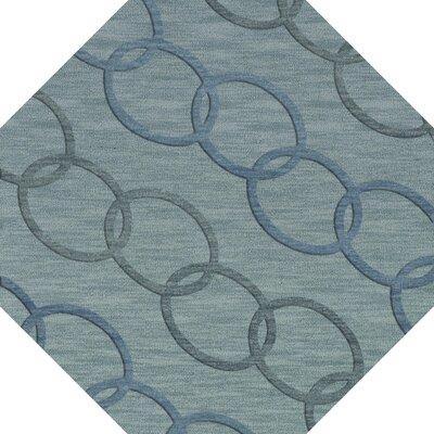 Bella Blue Blue Area Rug Rug Size: Octagon 8