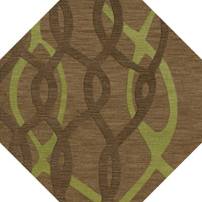 Bella Brown Area Rug Rug Size: Octagon 10'