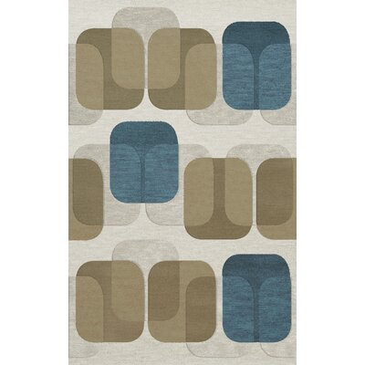 Bella Machine Woven Wool Gray/Brown Area Rug Rug Size: Rectangle 9 x 12