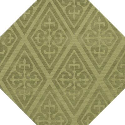 Bella Machine Woven Wool Green Area Rug Rug Size: Octagon 10