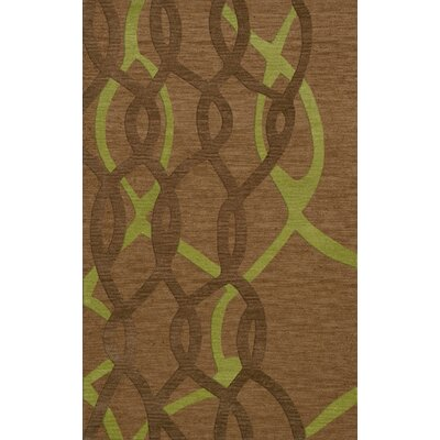 Bella Machine Woven Wool Brown Area Rug Rug Size: Rectangle 12 x 18