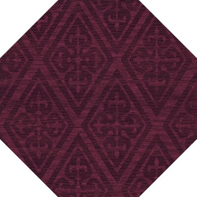 Bella Machine Woven Wool Red Area Rug Rug Size: Octagon 10