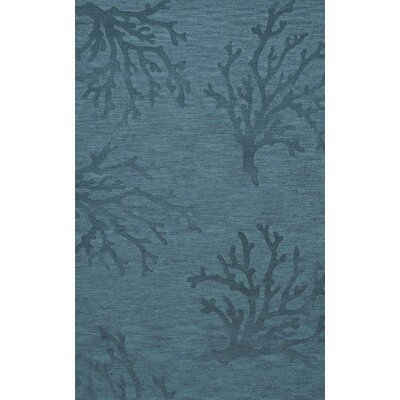 Bella Machine Woven Wool Blue Area Rug Rug Size: Rectangle 10 x 14