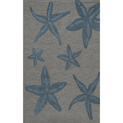Bella Gray/Blue Area Rug Rug Size: Rectangle 5 x 8