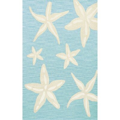 Bella Blue/Beige Area Rug Rug Size: Rectangle 6 x 9
