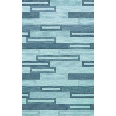 Bella Machine Woven Wool Blue Area Rug Rug Size: Rectangle 12 x 18