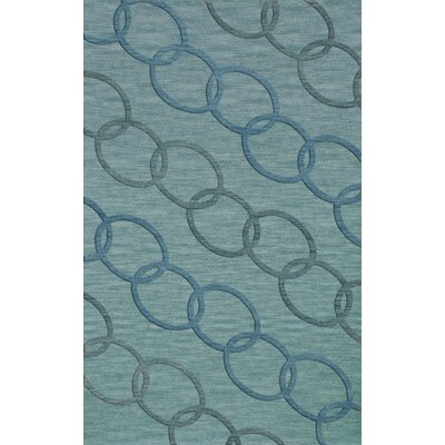 Bella Blue Blue Area Rug Rug Size: Rectangle 9 x 12