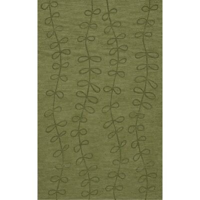 Bella Machine Woven Wool Green Area Rug Rug Size: Rectangle 4 x 6