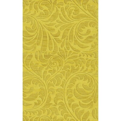 Bella Machine Woven Wool Yellow Area Rug Rug Size: Rectangle 6 x 9