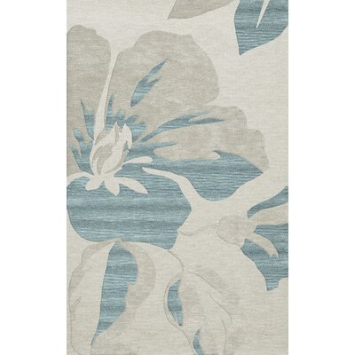 Bella Machine Woven Wool Blue Area Rug Rug Size: Rectangle 8 x 10