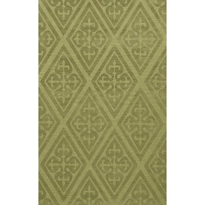 Bella Machine Woven Wool Green Area Rug Rug Size: Rectangle 3 x 5