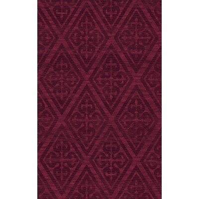 Bella Machine Woven Wool Red Area Rug Rug Size: Rectangle 9' x 12'