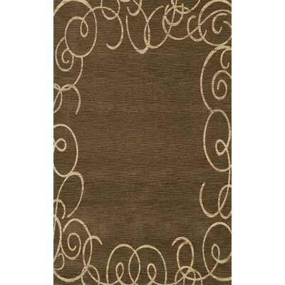 Bella Machine Woven Wool Brown Area Rug Rug Size: Rectangle 3 x 5