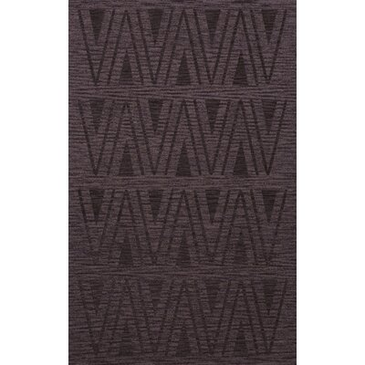 Bella Machine Woven Wool Purple Area Rug Rug Size: Rectangle 6 x 9
